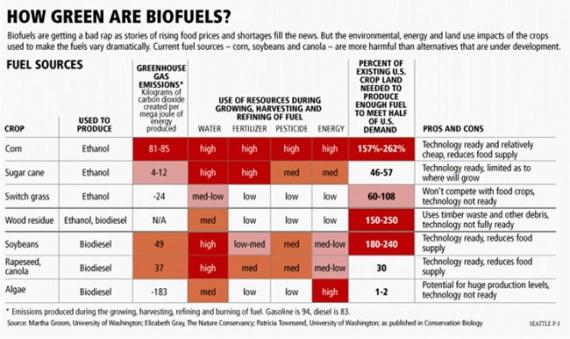 Porównanie biopaliw