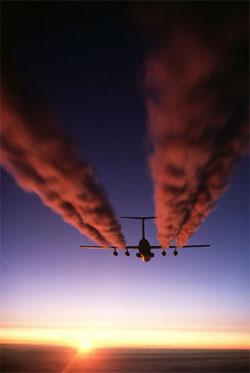 Zanieczyszczenia samolotu