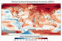 Zmiany temperatury powierzchni Ziemi