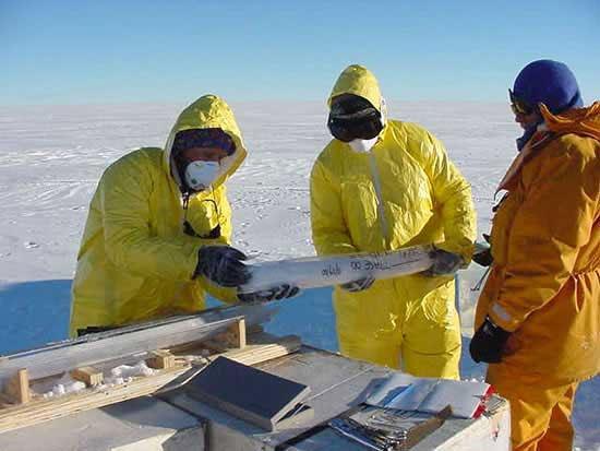 Przygotowywanie rdzeni lodowych