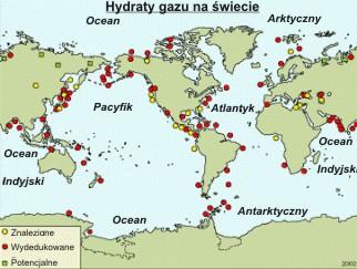 Występowanie hydratów metanu