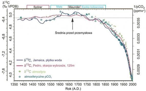 Zmiany izotopów węgla w atmosferze