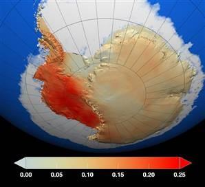 Zmiany temperatury Antarktyda